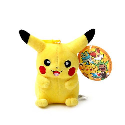 Pokemon Pikachu Plush Keychain 4'' Brand New Official Merchandise Plushie