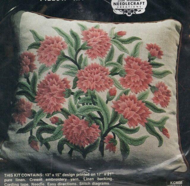 Vintage Elsa Williams Crewel Embroidery Kit Pillow Kc183 Ebay