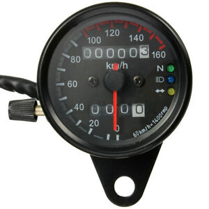 Universale-Moto-Dual-Contachilometri-Tachimetro-Gauge-Segnale-Led-Lampada-12v