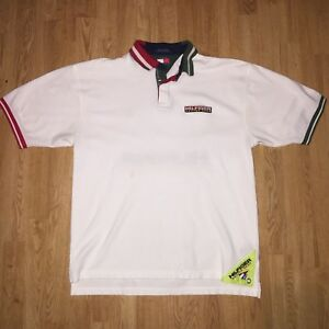 716b1cfc Image is loading Vintage-Tommy-Hilfiger-Sailing-Gear-Spellout-Polo-Shirt-