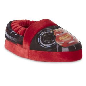 7-8 New with Tags Disney Cars Lightning McQueen Toddler House Shoes sz