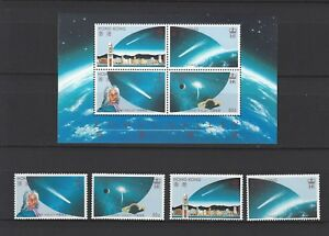 Hong Kong 1986 Comet Halley stamp + S/S space