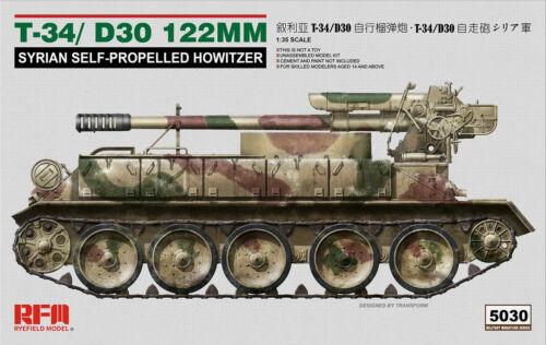 Rye Field Model RM-5030-1:35 T-34//D30 122MM Syrian Self-Propelled Howitzer