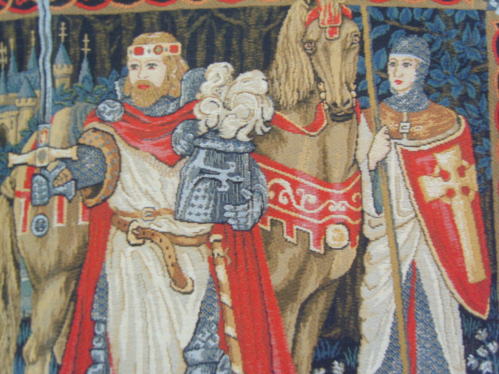 King Arthur Hanging Tapestry Wall Hanging Arthur mesures 27 x 18 pouces; 69 x 46 cm 6f9ada