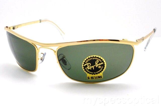 34b676ceec Ray Ban Shooter Sunglasses Rb3138 001 Arista Gold Frames G15 Green Lens 58  Italy