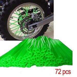 Weichuang 72 Pcs 24CM Couvre Rayons de Moto V/élo Spokes Skins pour Jantes de Motocross Housse Protecteur Tube Paille Protection pour Jantes /à Rayons et Roue