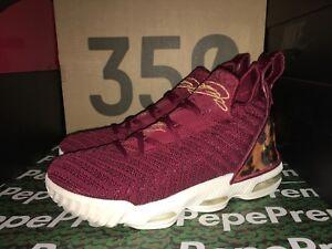 5cd35f6abb5 Nike LeBron XVI EP 16 King James Team Red Leopard Men Shoe AQ2465 ...