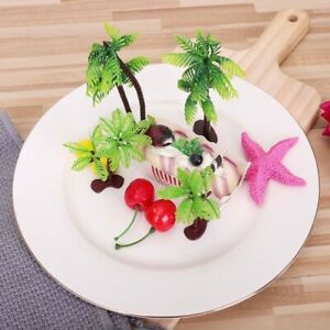 6PCS Palm Tree Birthday Cake Chic Decor Cupcake Topper ...