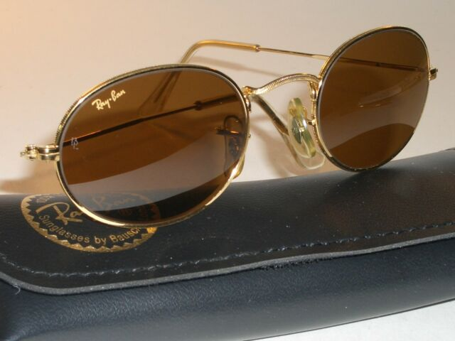 f045a24f76a VINTAGE BAUSCH   LOMB RAY BAN W0967 GOLD PLATED B15 OVAL AVIATOR SUNGLASSES  MINT