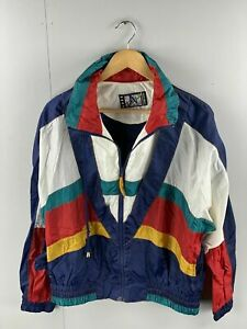 Re Sport River Edge Vintage Women's Full Zip Track Suit Jacket Size Large Blue