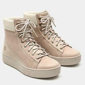 Dettagli su TIMBERLAND Sneakers alta donna rosa chiaro A21NCL47 MARBLESEA boot woman pink