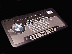 Black Frame//BMW Name Genuine BMW License Plate Frame