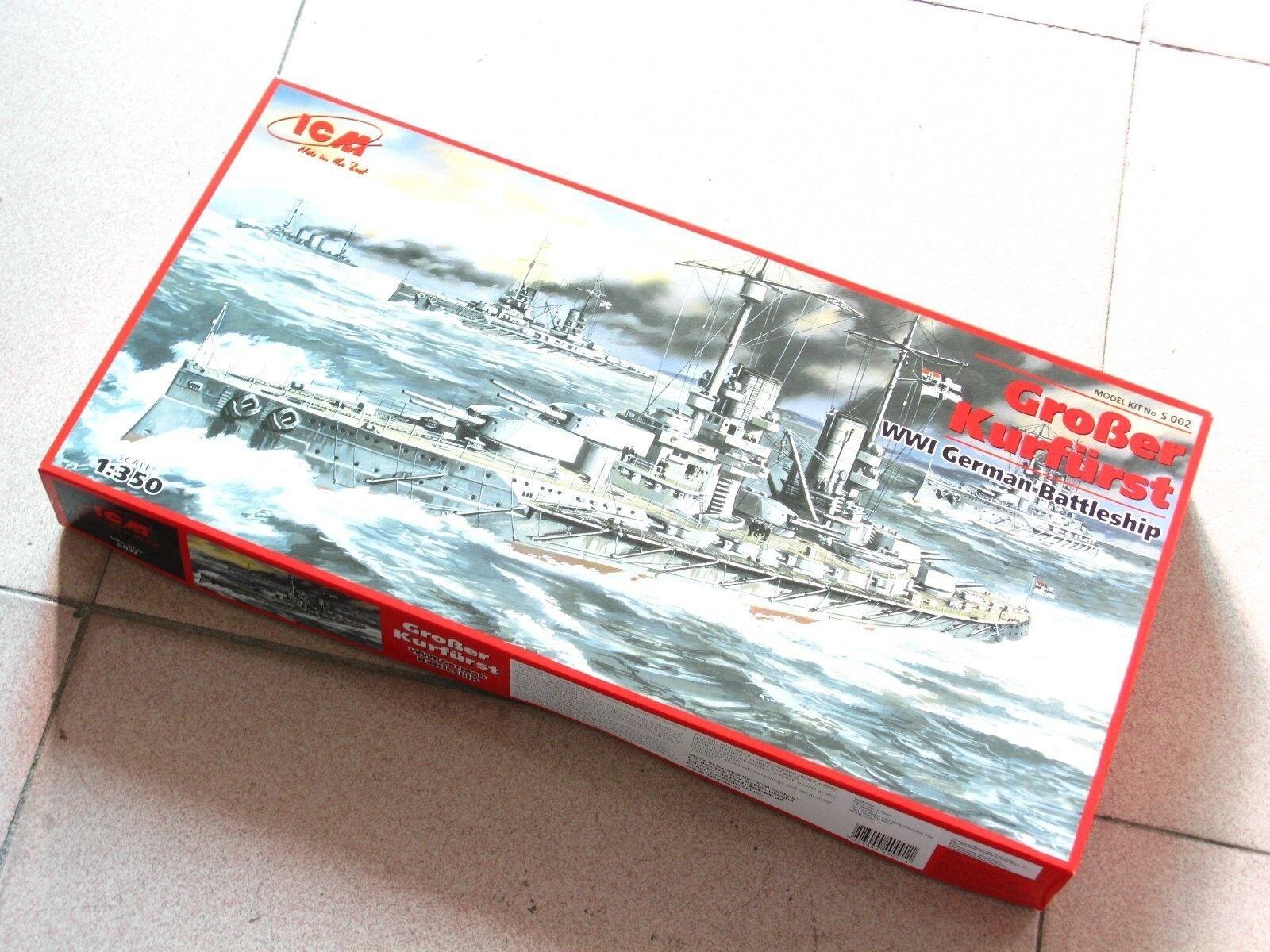 ICM 1 350  S002 WWI German Battleship GroBer Kurfurst