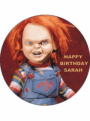 Surprising 7 5 Horror Chucky Edible Icing Birthday Cake Topper 7426763476129 Funny Birthday Cards Online Sheoxdamsfinfo