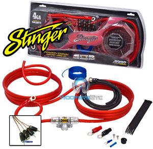 sk4641 stinger 4 gauge 4000 amp power amplifier wire complete rh ebay com