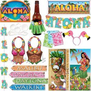 aloha hawaii dekoration motto party s dsee strandparty sommer surfer deko set. Black Bedroom Furniture Sets. Home Design Ideas