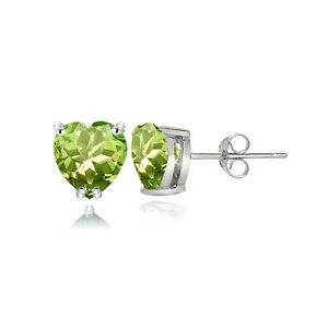 Sterling-Silver-Peridot-5mm-Heart-Stud-Earrings