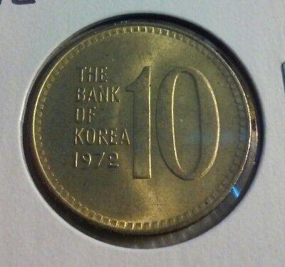 KOREA SOUTH 5 WON KM5 A 1972 TURTLE BOAT UNC UN COMMON KOREAN MONEY ASIAN COIN