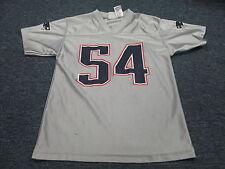 NFL TEAM APPAREL NEW ENGLAND PATRIOTS TEDY BRUSCHI SILVER JERSEY YOUTH  M 10-12
