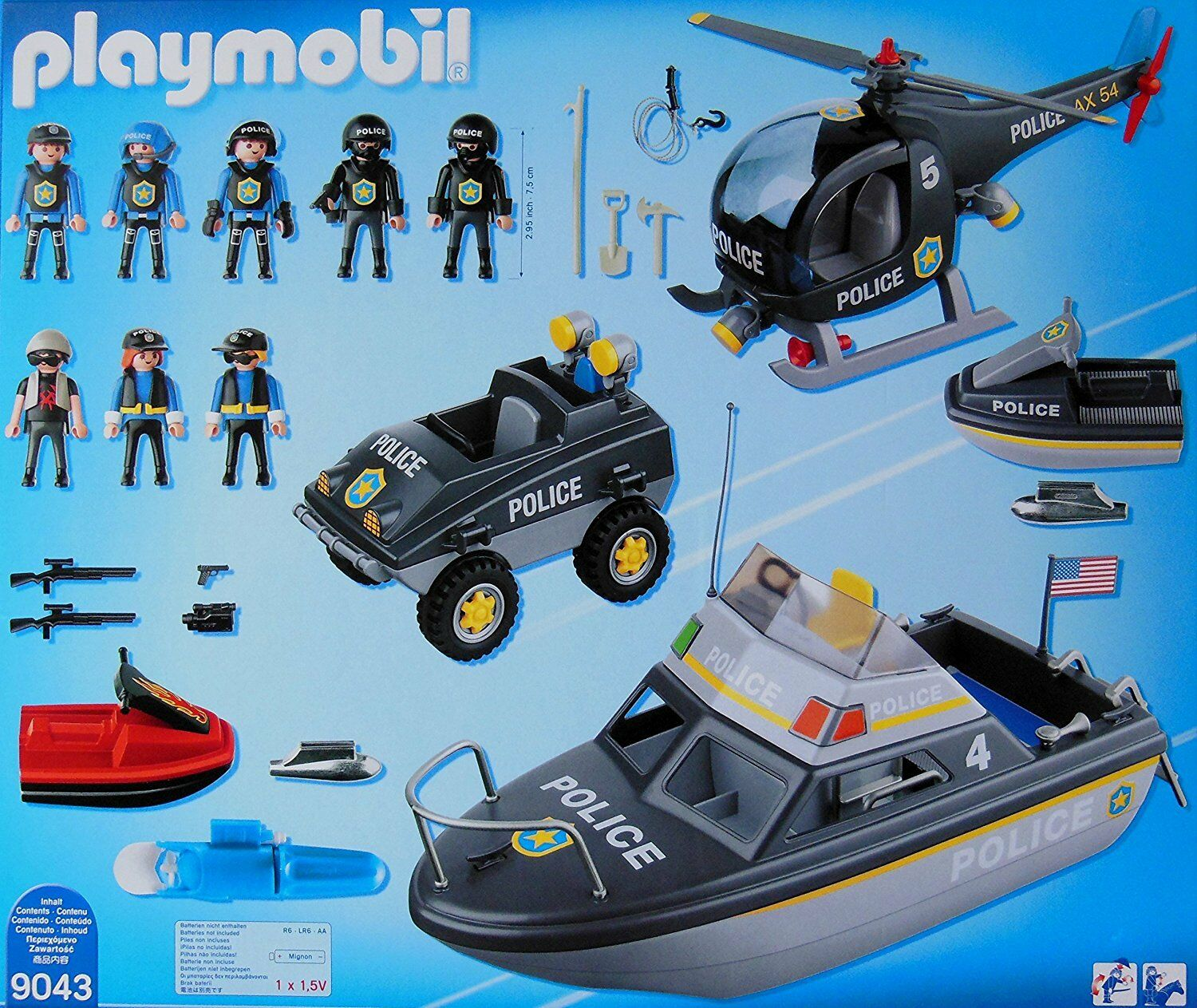 Playmobil Playmobil Playmobil City Action 9043 Set de Policía (Fuerzas Especiales) - New and sealed a507bd