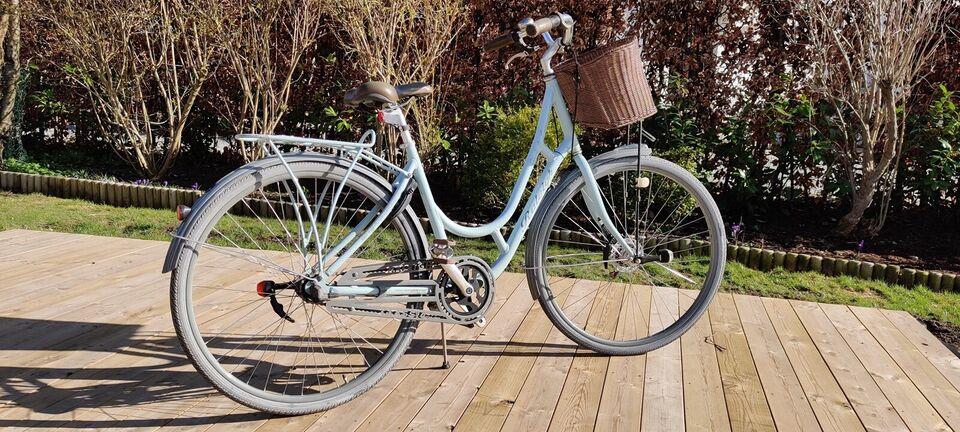 Raleigh damecykel - lyseblå/turkis