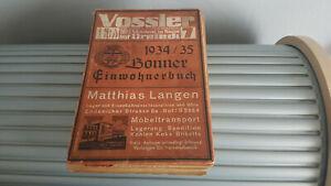 Bonner Einwohnerbuch 1934/35 - Hattingen, Deutschland - Bonner Einwohnerbuch 1934/35 - Hattingen, Deutschland