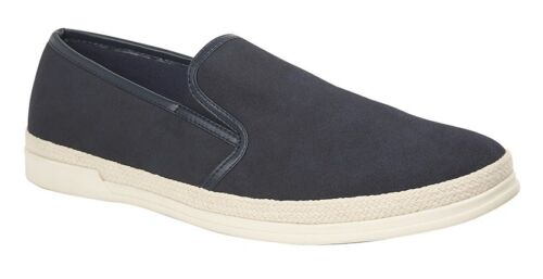 Suede Twin Gusset Shoes Route 21 /'Asphalt/' Men/'s Urban Casual Loafers Synth