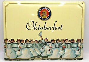 Paulaner-Munchen-034-Oktoberfest-Insegna-pubblicitaria-In-Latta-30x40
