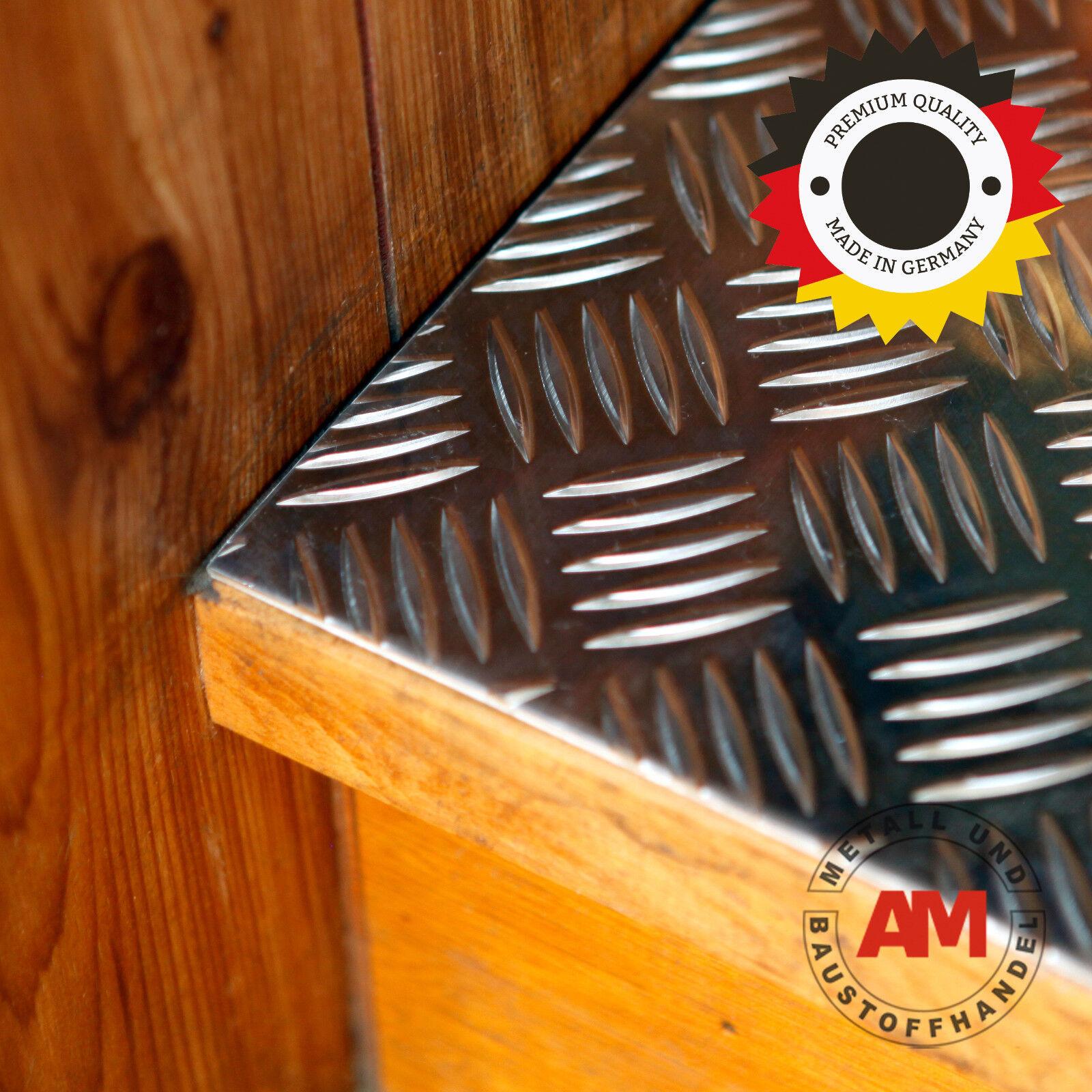 Alu Riffelblech 2,5 4,0mm Quintett 500x2000mm Aluminium Blech Warzenblech