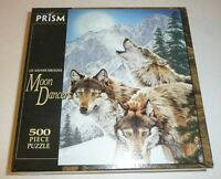 Sealed - Wolf Themed 500 Piece Jigsaw Puzzle Moon Dancers Nature Animals