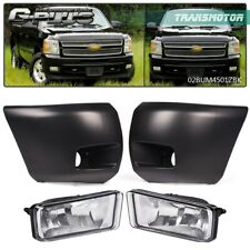Front Bumper Driving Fog Light Withbumper End Fit For 2007 13 Chevy Silverado 1500 Fits 2013 Silverado 1500