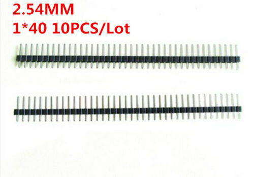 10pcs 40 Pin 1x40 Single Row Male 2.54 Breakable Pin Header Connector