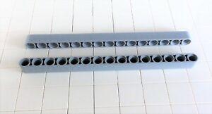 8-Lego-Technik-Liftarm-1x15-neu-hellgrau-32278-2-Stueck