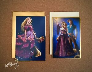 2013-2019-Disney-Designer-Collection-RAPUNZEL-Note-Cards-Fairytale-amp-Masquerade