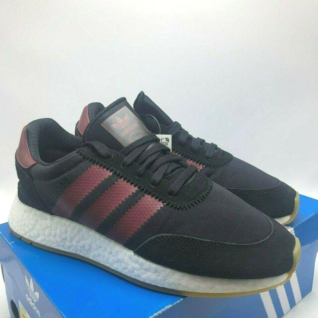 adidas I 5923 Mens B37946 Black Burgundy White Gum Boost Running Shoes Size 10