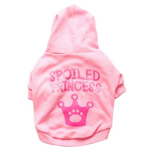 Crown Princess Dog Clothes Chihuahua Yorkie Hoodie Coat Cute Small