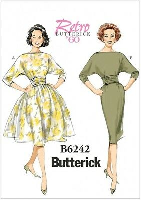 Gratis Reino Unido P/&p Butterick Damas patrón de costura vestidos de estilo vintage 6018...