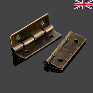 Uk 30mm 90 Degree Antique Brass Jewelry Wine Gift Wood Box Case Door