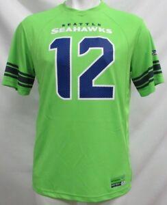 Seattle-Seahawks-NFL-Men-Lime-Green-12-Fan-Jersey-T-Shirt-XL-2XL