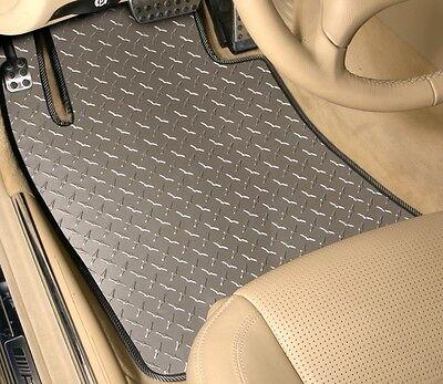 4-Piece Set - DIAMOND PLATE - Vinyl Floor Mats- CUSTOM - Mercedes C CLA CLK CLS
