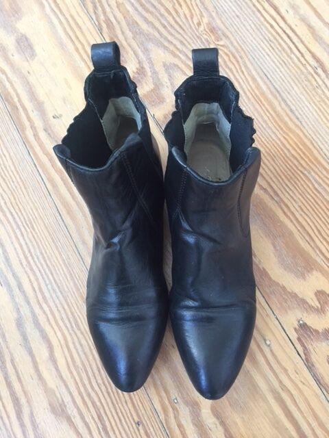 Flache Chelsea Stiefel von COX, schwarz, Leder, Größe 37