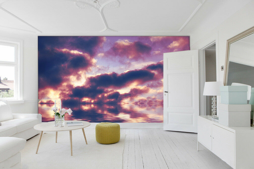 3D lila Clouds Sea 51 Wall Paper Wall Print Decal Wall Deco Indoor Mural Carly