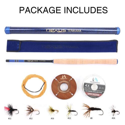 """Flies Kits Line Maxcatch Tenkara Rod Combo 12/' 13/' 13/'6/'/' 13'//14'7"""" 7:3 action"""