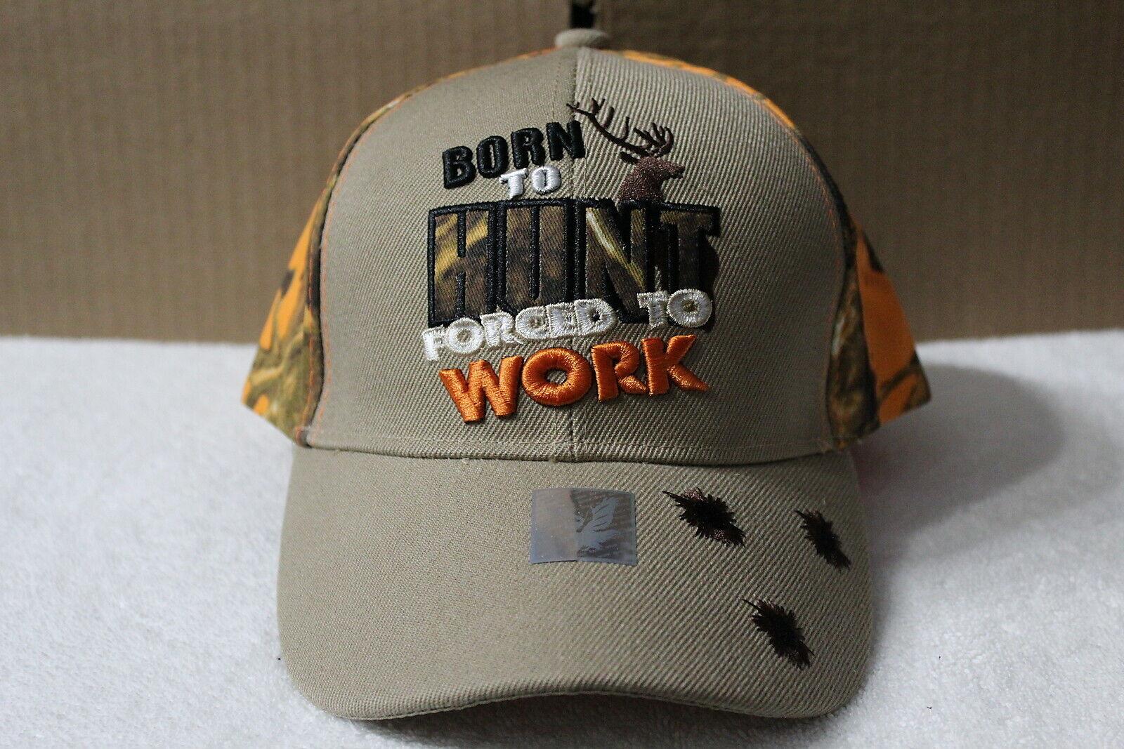 CAMO GUNSHOT BULLET HOLE HUNTING IS LIFE ADJUSTABLE HAT hunters baseball cap A80