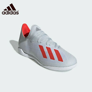 Adidas-X-19-3-Indoor-Boots-Soccer-Silver-F35370-Men-039-s-Size-10-5