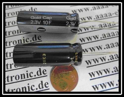 Panasonic doble turno condensador goldcap 10f 2,3v 12,5x35mm ra5 1 piezas