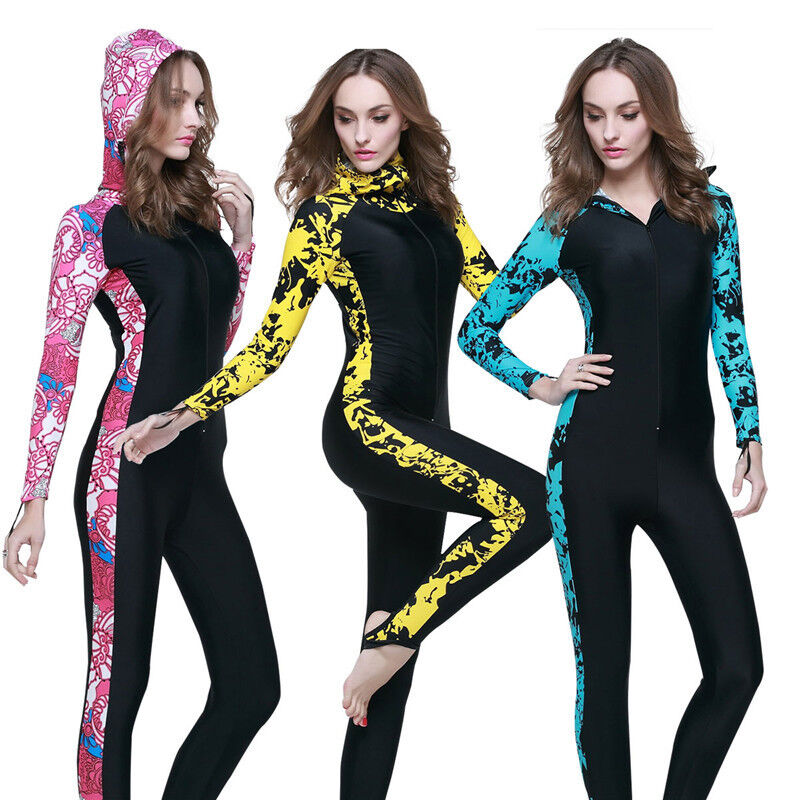 Women Diving Suit Snorkeling Wetsuit Anti-UV One Piece  With Hooded Swimwear  good price
