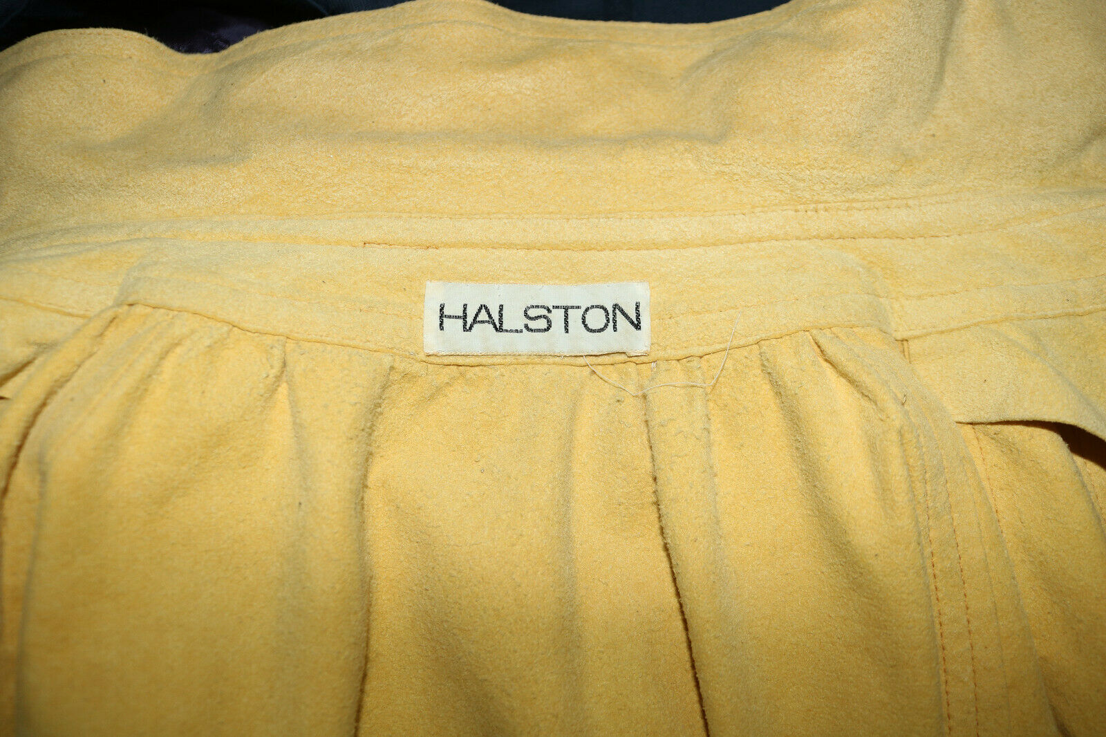 HALSTON vintage Ultrasuede smock top - image 5