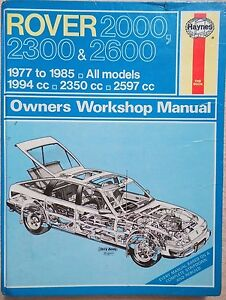 Haynes-Workshop-Manual-Rover-2000-2300-amp-2600-from-1977-to-1985