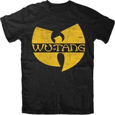 Wu-Tang Clan Classic W Logo Licensed Adult Unisex T-Shirt - Black / Yellow